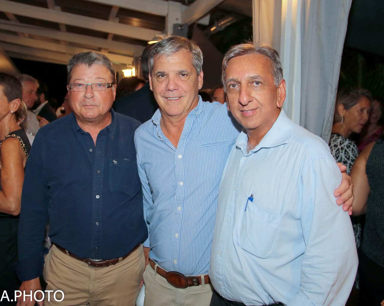 Olivier Moreau, Luis Vieira et Aziz Patel