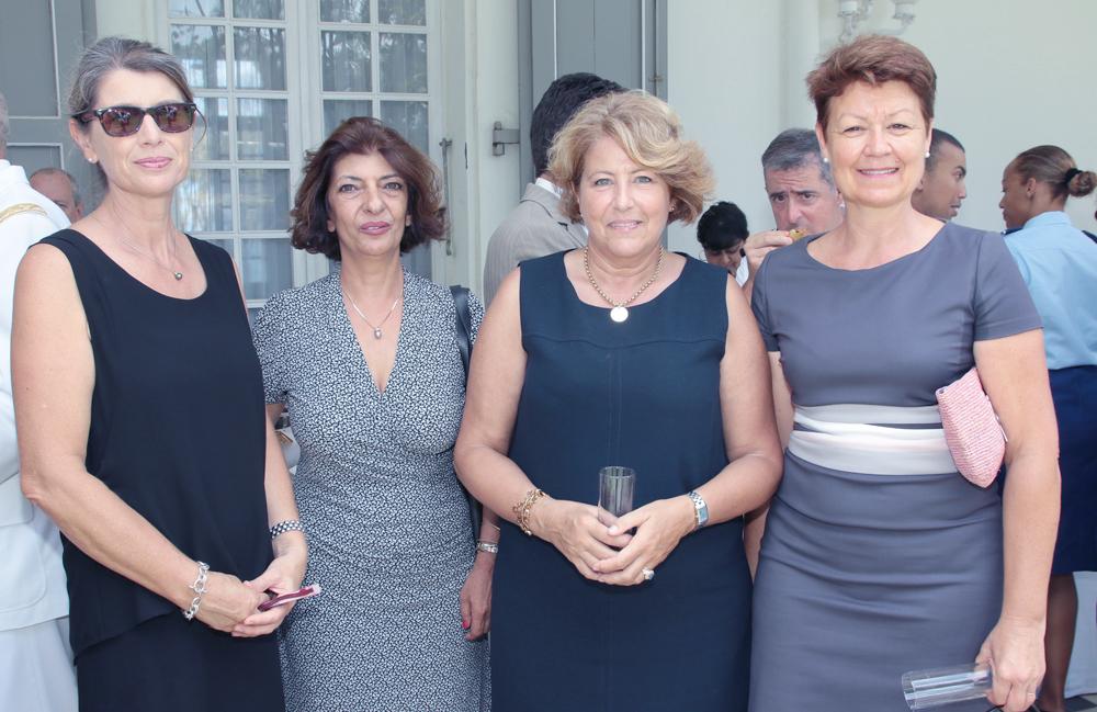 Frédrique Sorain, Massi Rivière, madame Barate, et Sylviane Auffret
