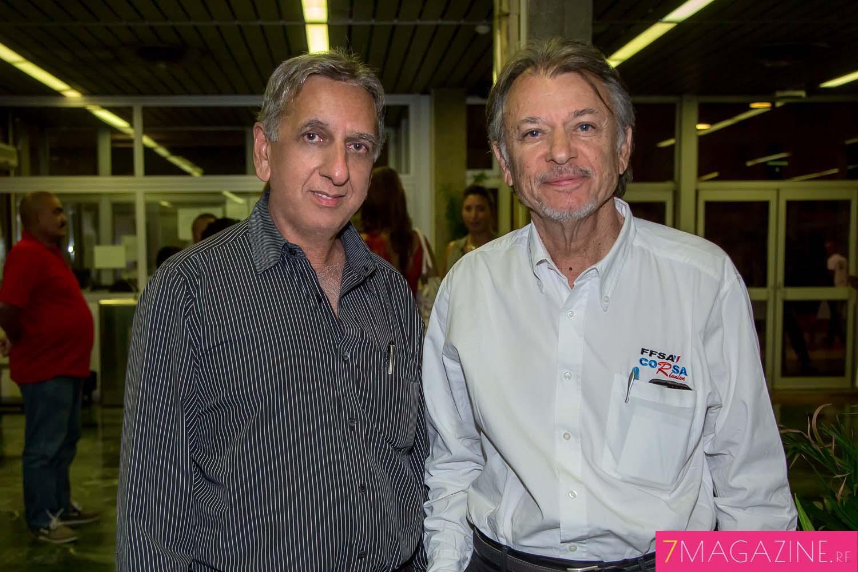 Aziz Patel et Jean-Pierre Ollivier, président du CORSA