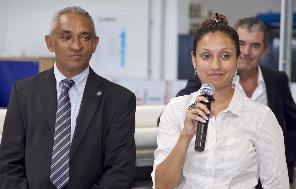 André Ramsamy et sa fille Claire