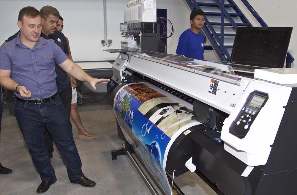 Démonstration de la nouvelle imprimante