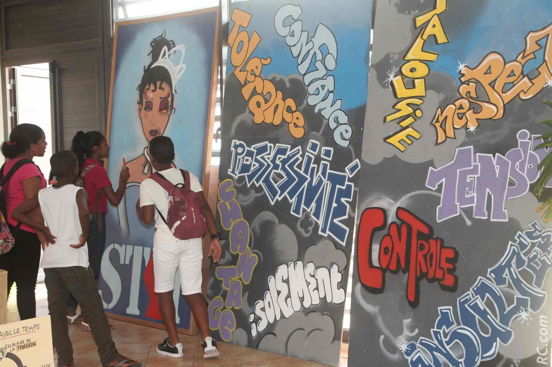 Atelier de graff dans les locaux de la MDA