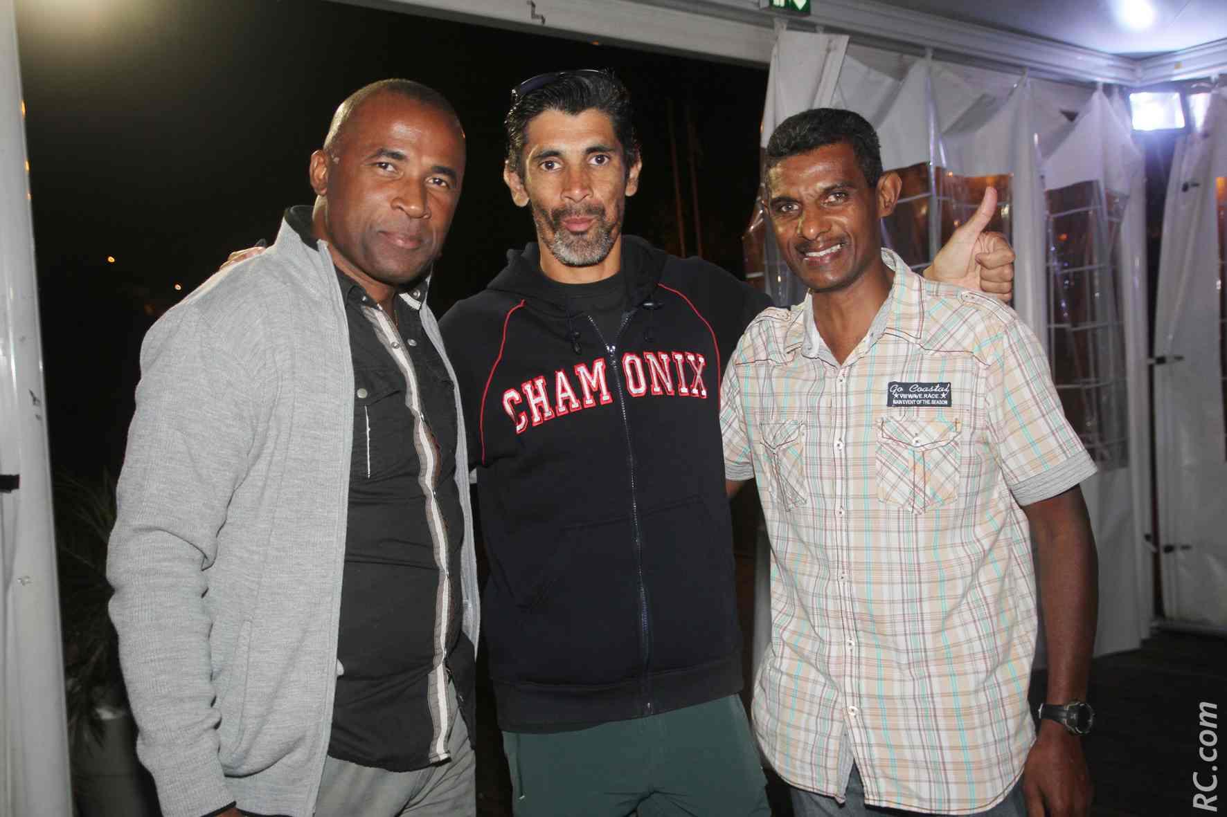 Daniel Catambara de Run-Trail Aventure, Jean-Marie Cadet et Eric Dalevan ont inscrit le rendez-vous du Shandrani sur leur carnet de route