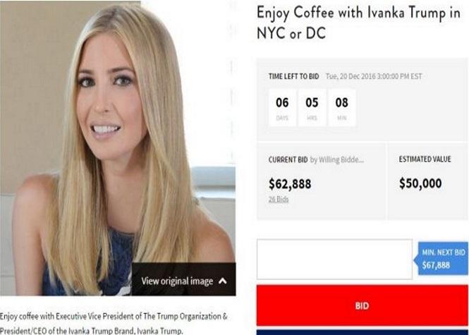50.000 dollars le café avec Ivanka Trump