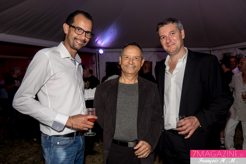 Jo Vany, José Payet du Studio Oasis et Patrick Mathieu, directeur régional de la Sacem