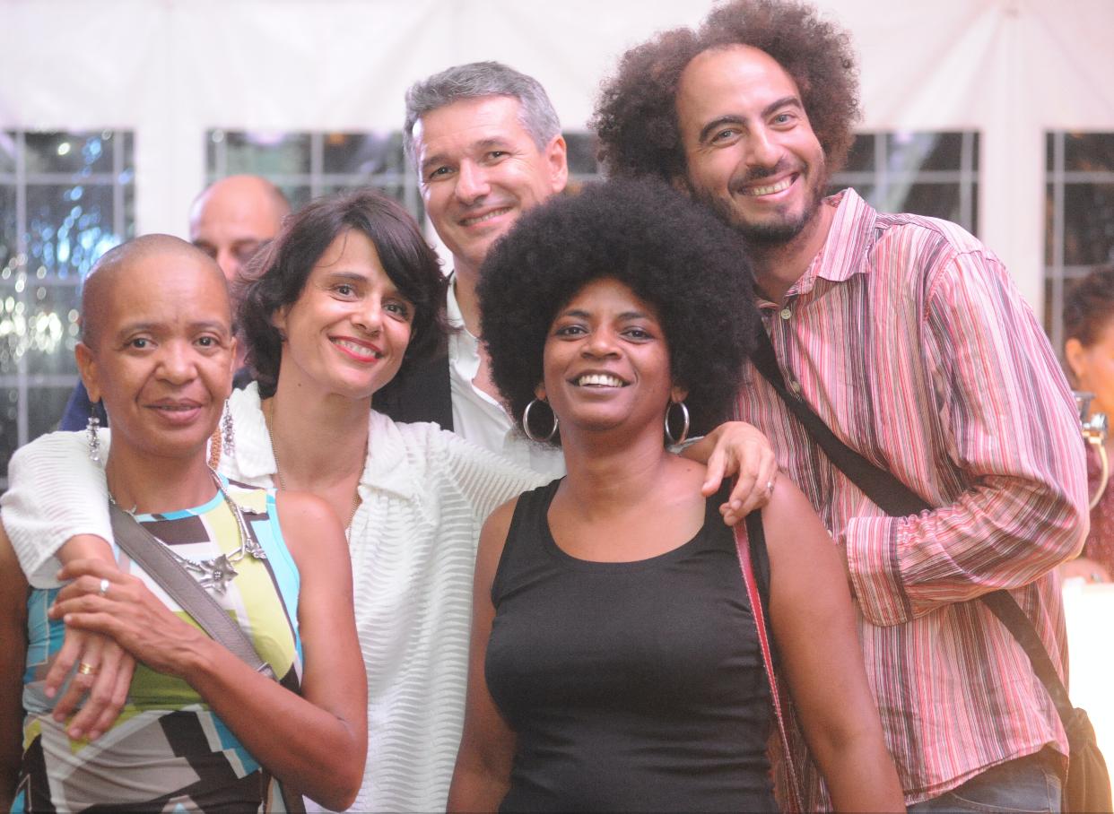 Christine Salem (en noir) et ses amis