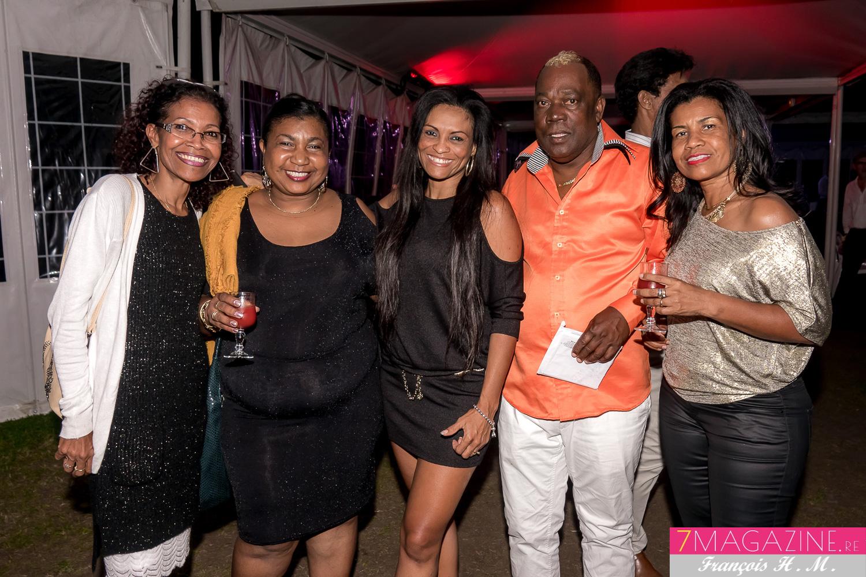 Chantale Ivara, Fabienne Sevaye, la danseuse de Marcelino, Marcelino Chaton, et une invitée
