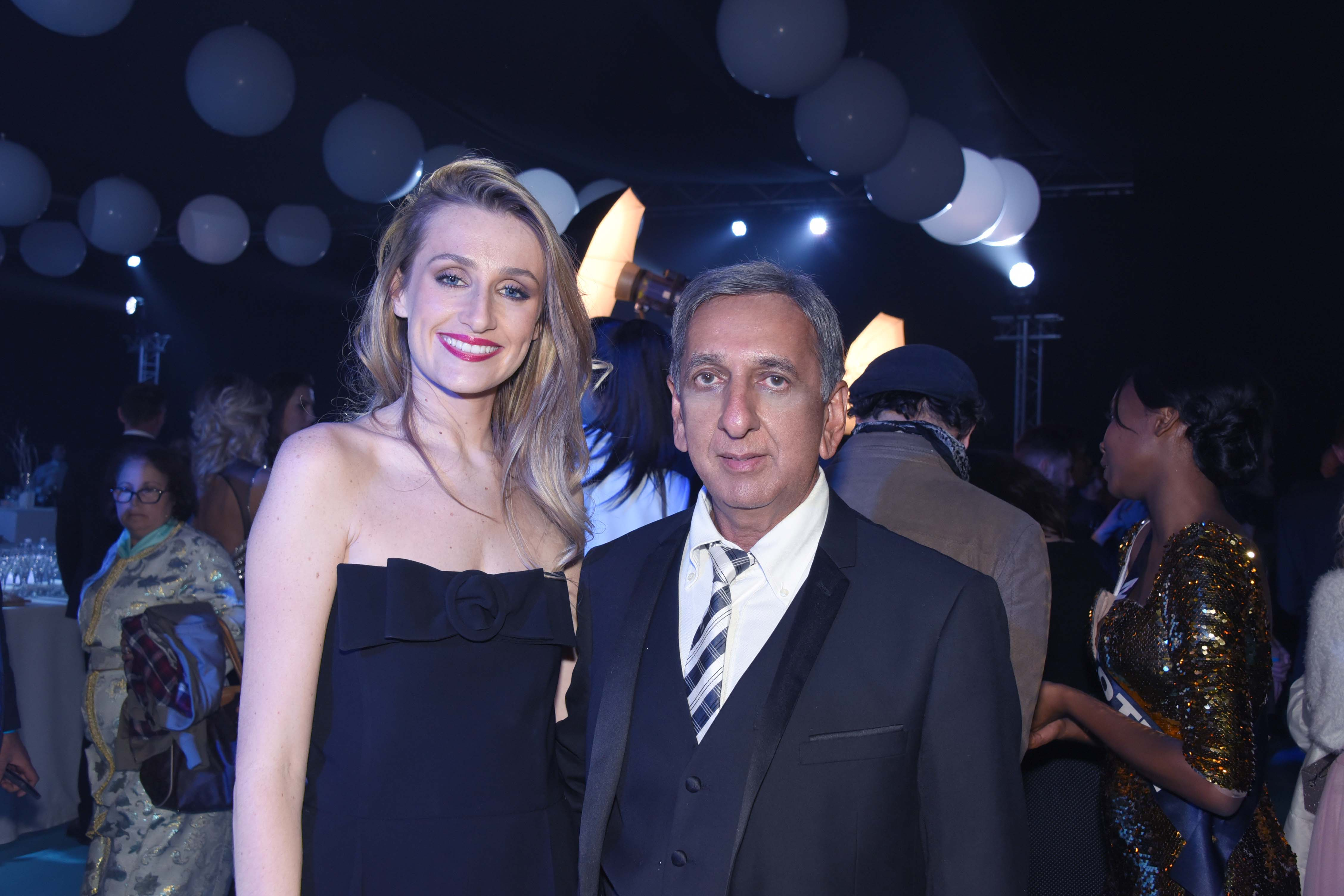 Estelle Sabathier, responsable communication Miss France, et Aziz Patel, délégué Miss France pour La Réunion