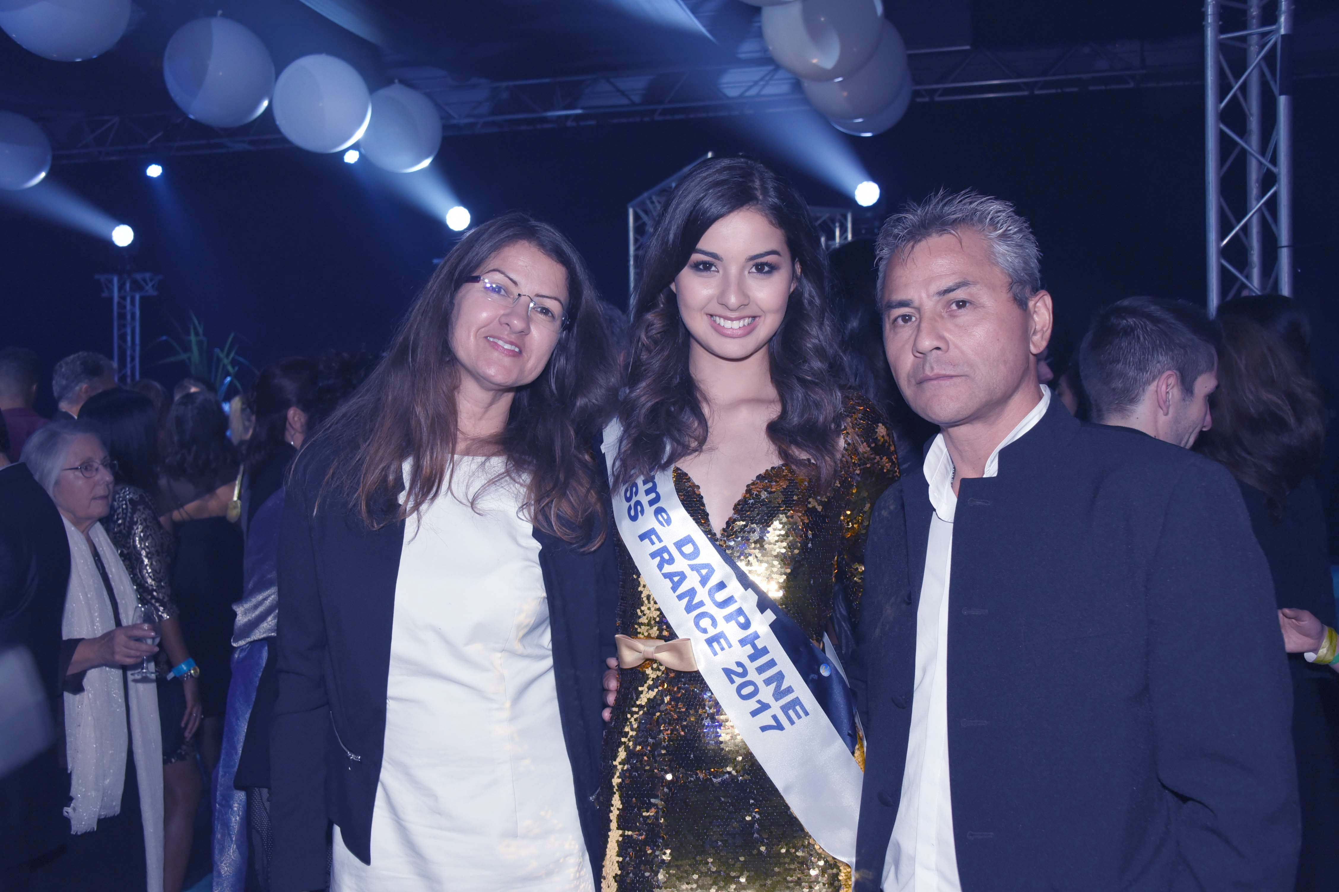 Ambre avec ses parents Marie-Line et Jean-Marie