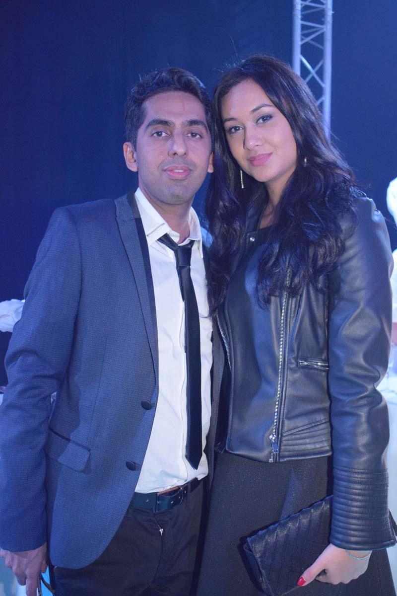 Réchad Patel et Stéphanie Robert, Miss Réunion 2012, étudiante à Montpellier