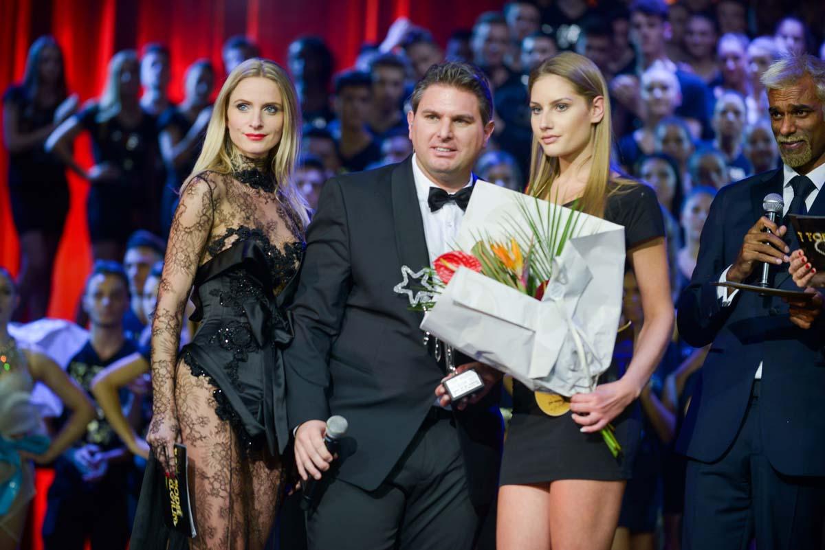 Jérémy Urbain a présenté la soirée avec Adriana