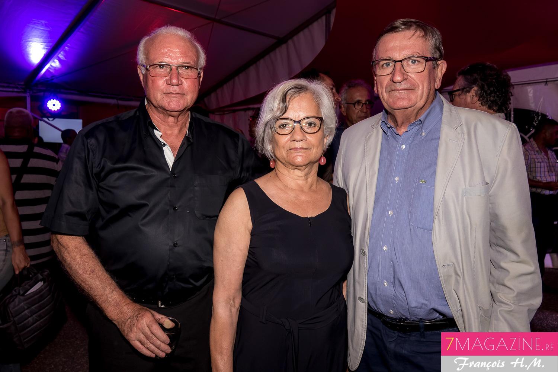 Gilbert Hoarau, avec Dominique Fournel et son épouse