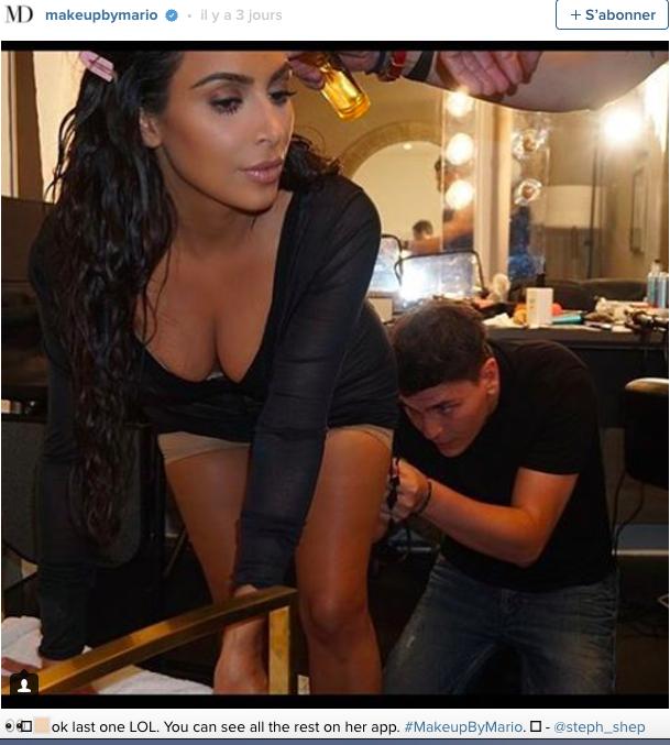 La séance de maquillage très intime de Kim Kardashian!