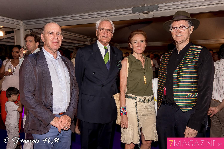 Marc Nouschi, directeur régional des affaires culturelles, Jean-François Drotkowski, et René-Claude Pestel, président de la Cité des Arts