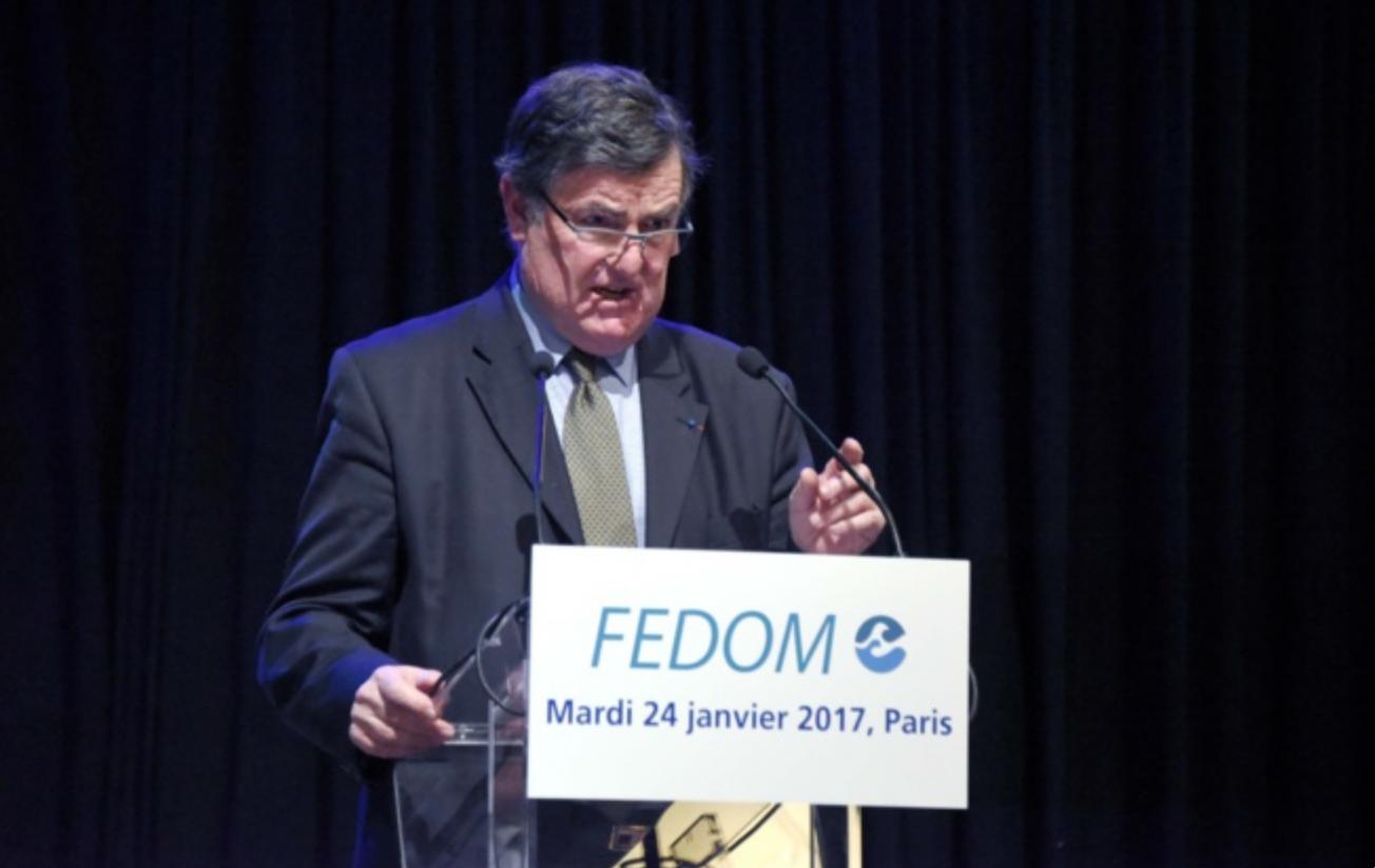 Jean-Pierre Philibert, président de la FEDOM, a présenté les voeux de l'organisme ce mardi à Paris