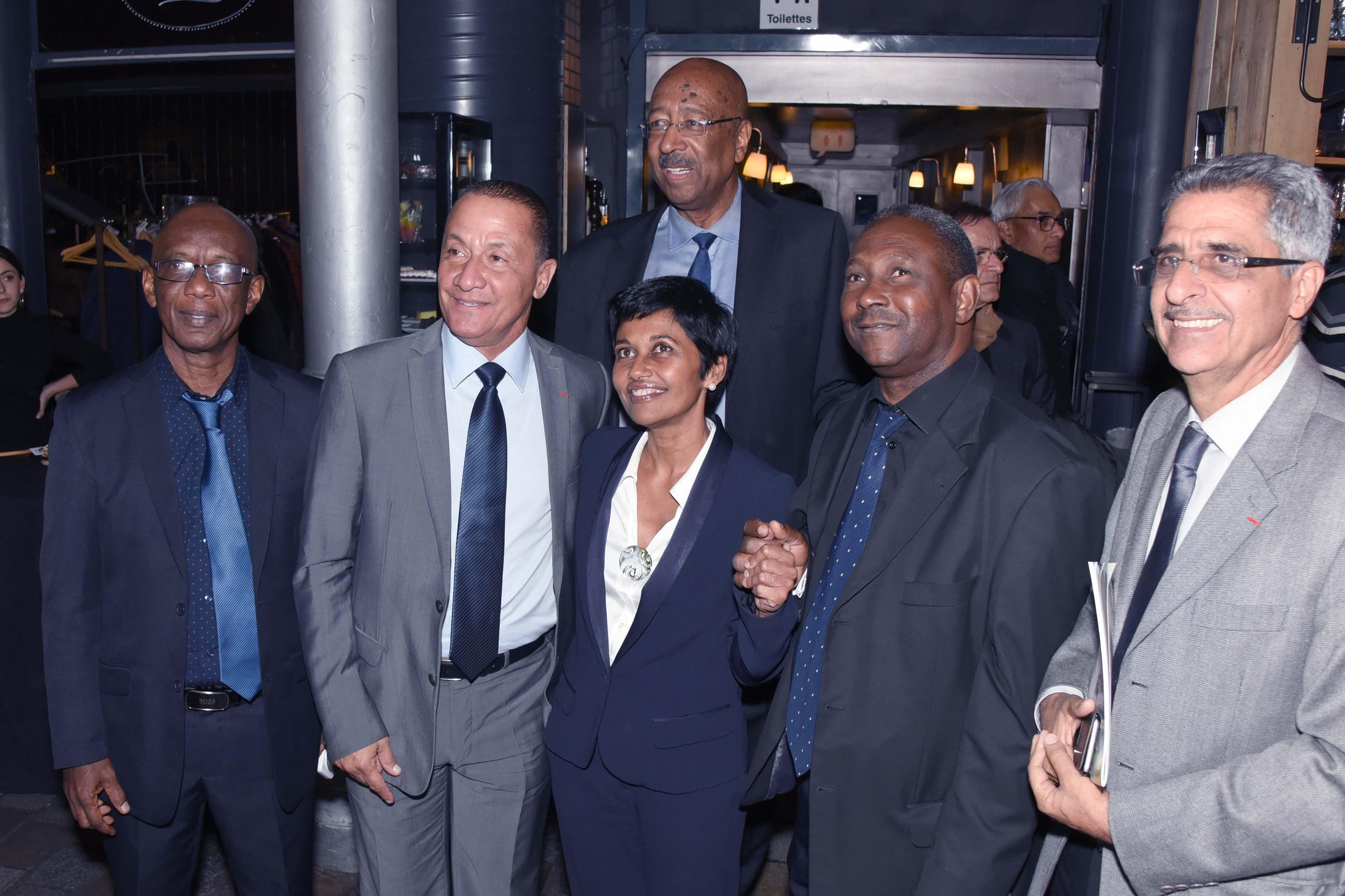 La Ministre entourée d'élus guyanais, dont Rodolphe Alexandre, Georges Patient, Antoine Karam....