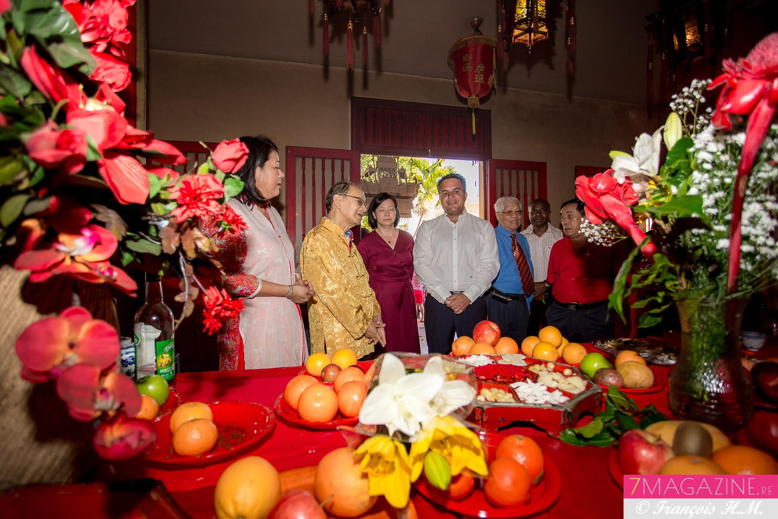 Ericka Bareigts et Didier Robert réunis pour le Nouvel An chinois