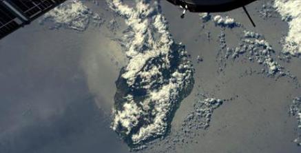 La Réunion vue de l'espace par l'astronaute français
