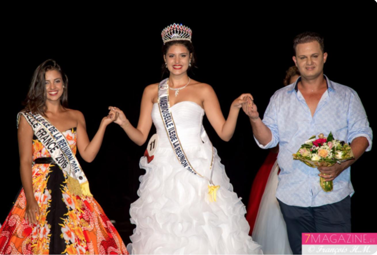 Fatima Hoarau, Mademoiselle France 2017, Anaïs Montbel Fontaine, et Eddy Séry, président Mademoiselle Réunion