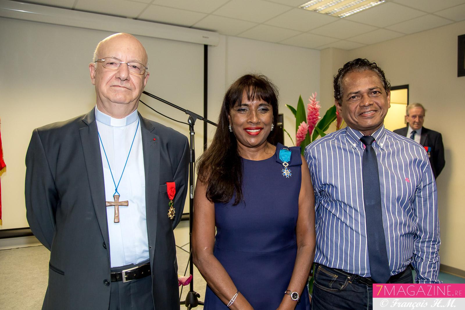 Monseigneur Aubry, Ida Mag Camalon et Philippe M'Roimana