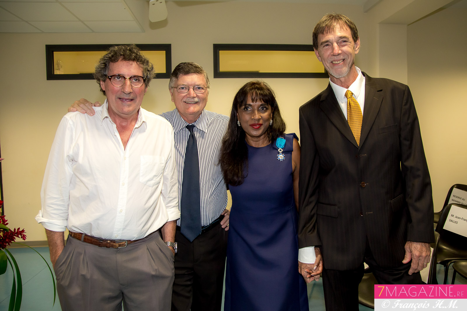 Ida Camalon avec Pierre Delacroix, Alain Huez, et Jean Claude Carraguel, professeurs à l UCO-R