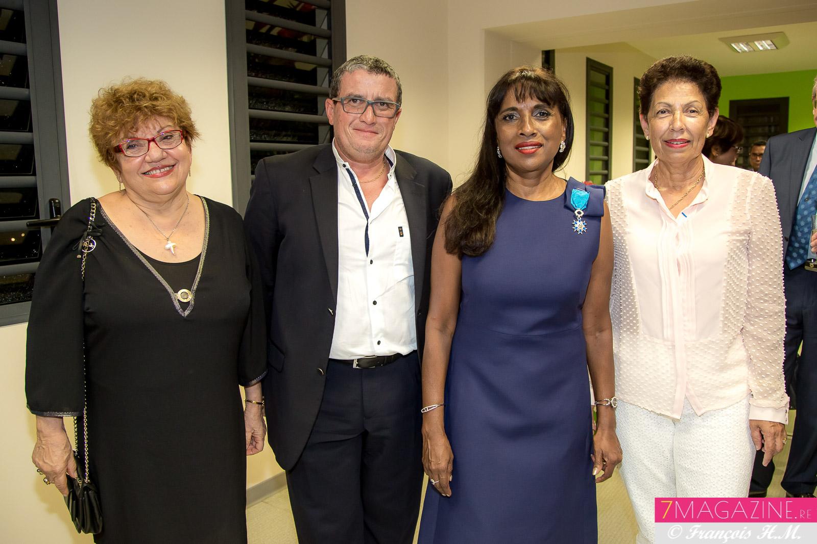 Gabrielle Fontaine, Gérard Françoise, Ida Camalon et Nicole Hervé