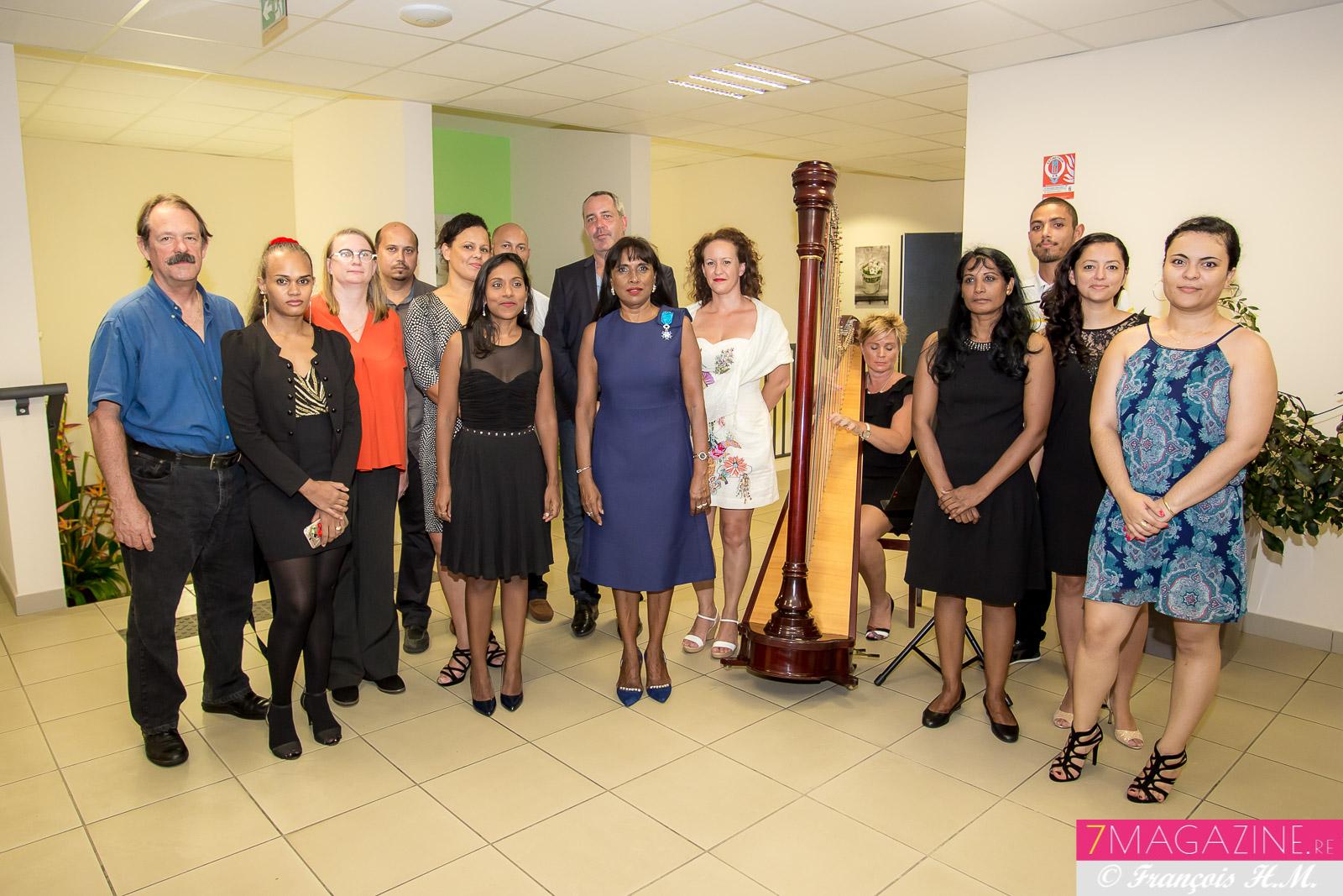 Avec l'équipe de l'UCO Réunion