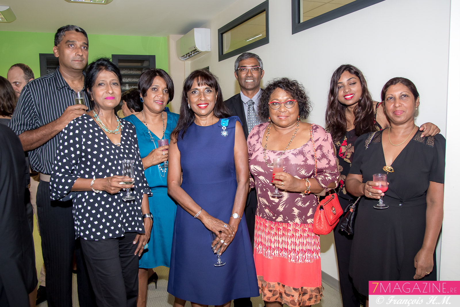 Ida Camalon avec sa famille