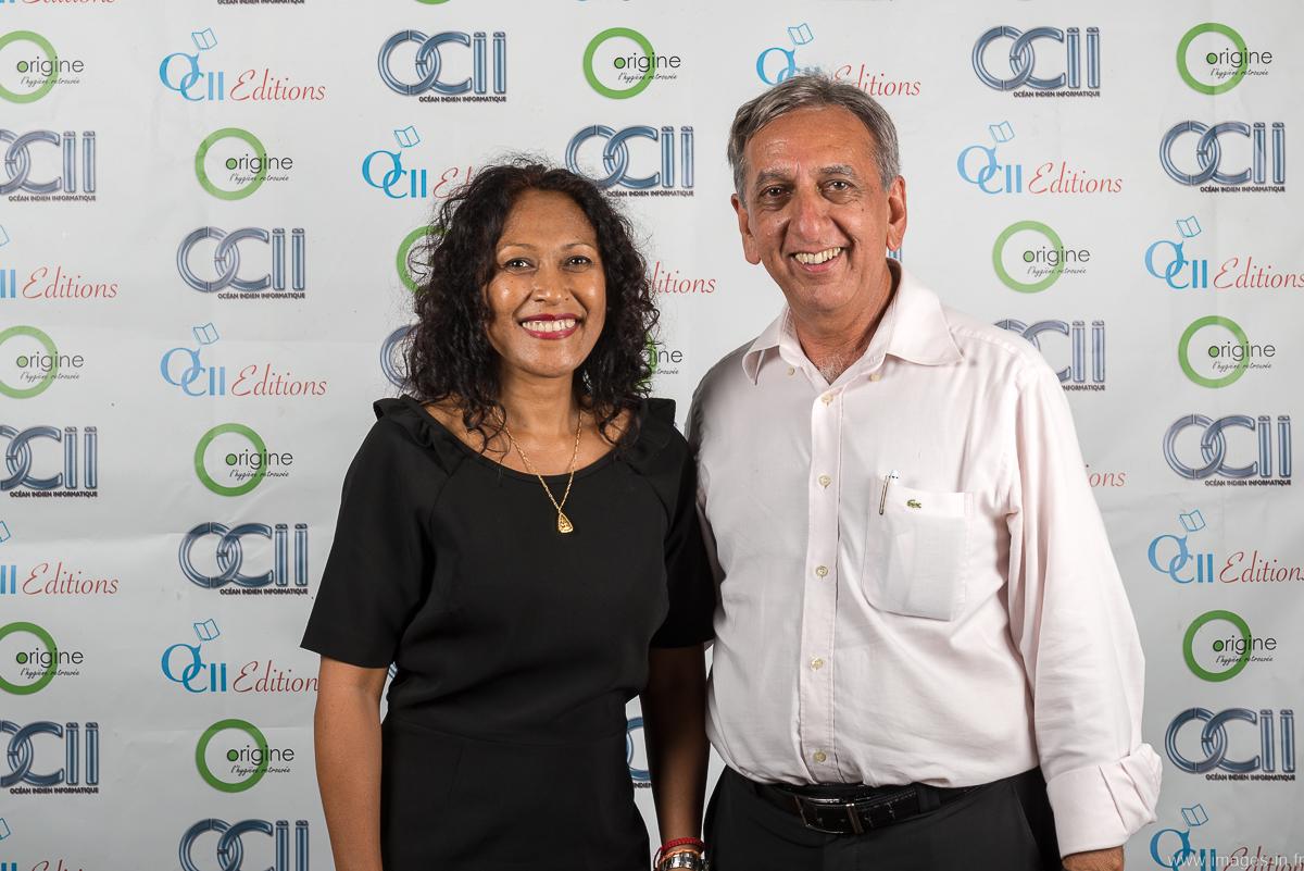 Aziz Patel avec Dolia Prunier qui travaille à OCII et qui collabore régulièrement avec 7Magazine.re comme photographe