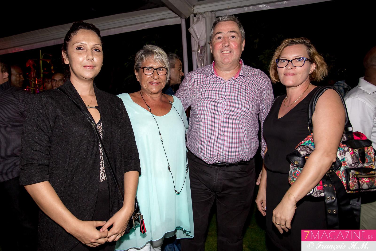 Claude Lasseigne, directeur général d'Edena, et des invitées