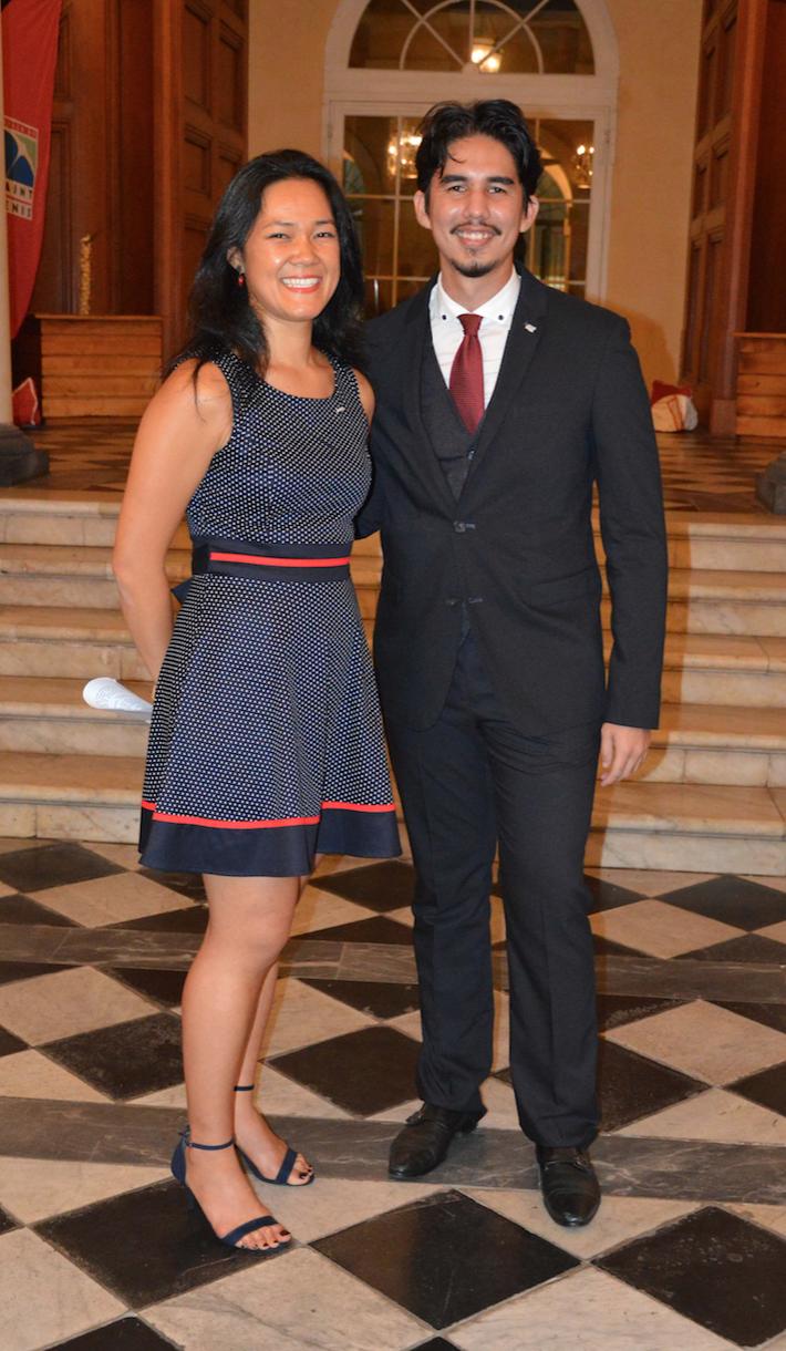 Audrey Law Houing, présidente 2016, et Jean-Max Boyer, président 2017