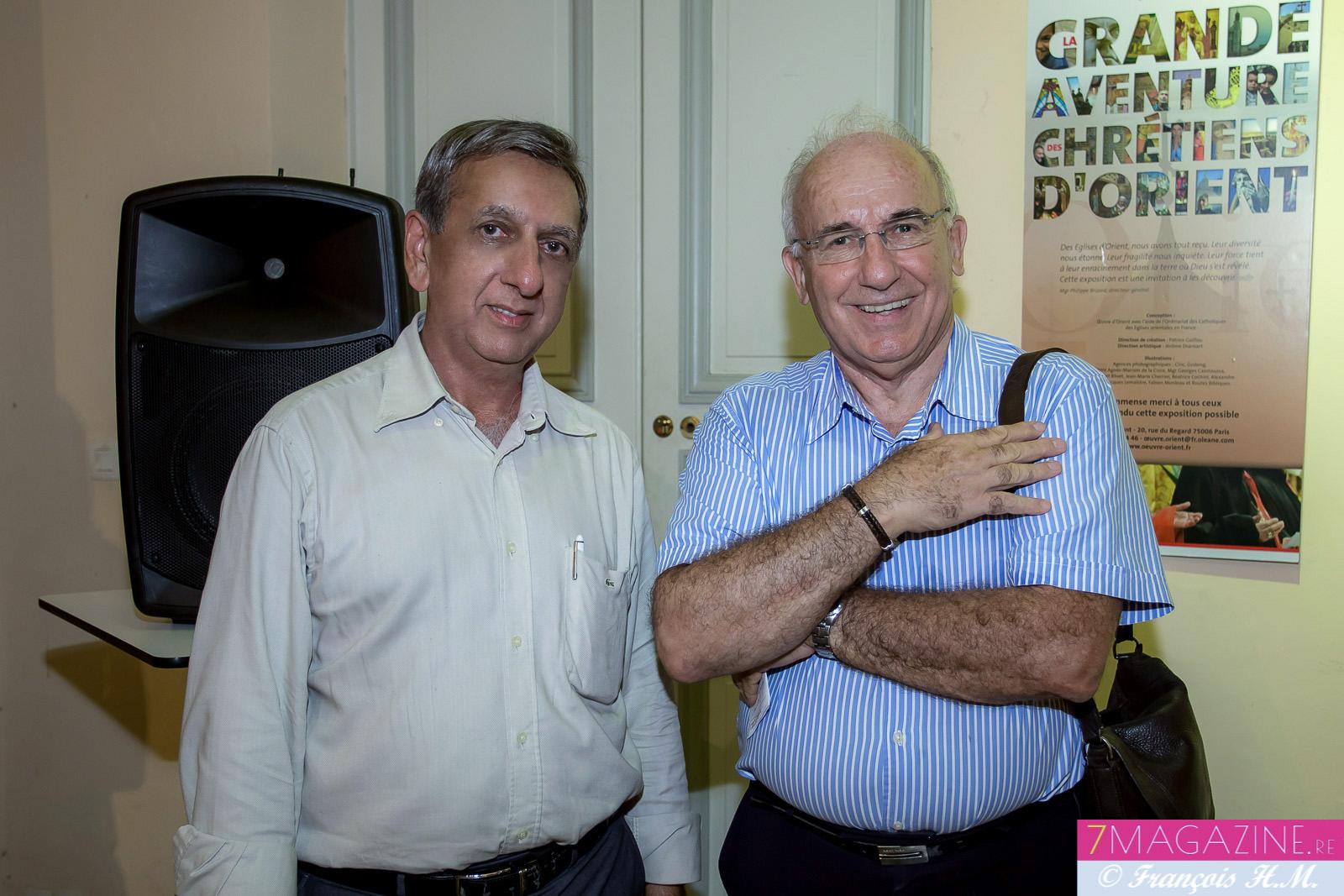 Aziz Patel de 7Magazine.re et Guy Bouvard, président du CRIJ (Centre Régional Information Jeunesse)