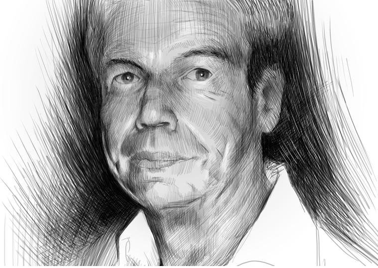 Jacky Simonin, caricature