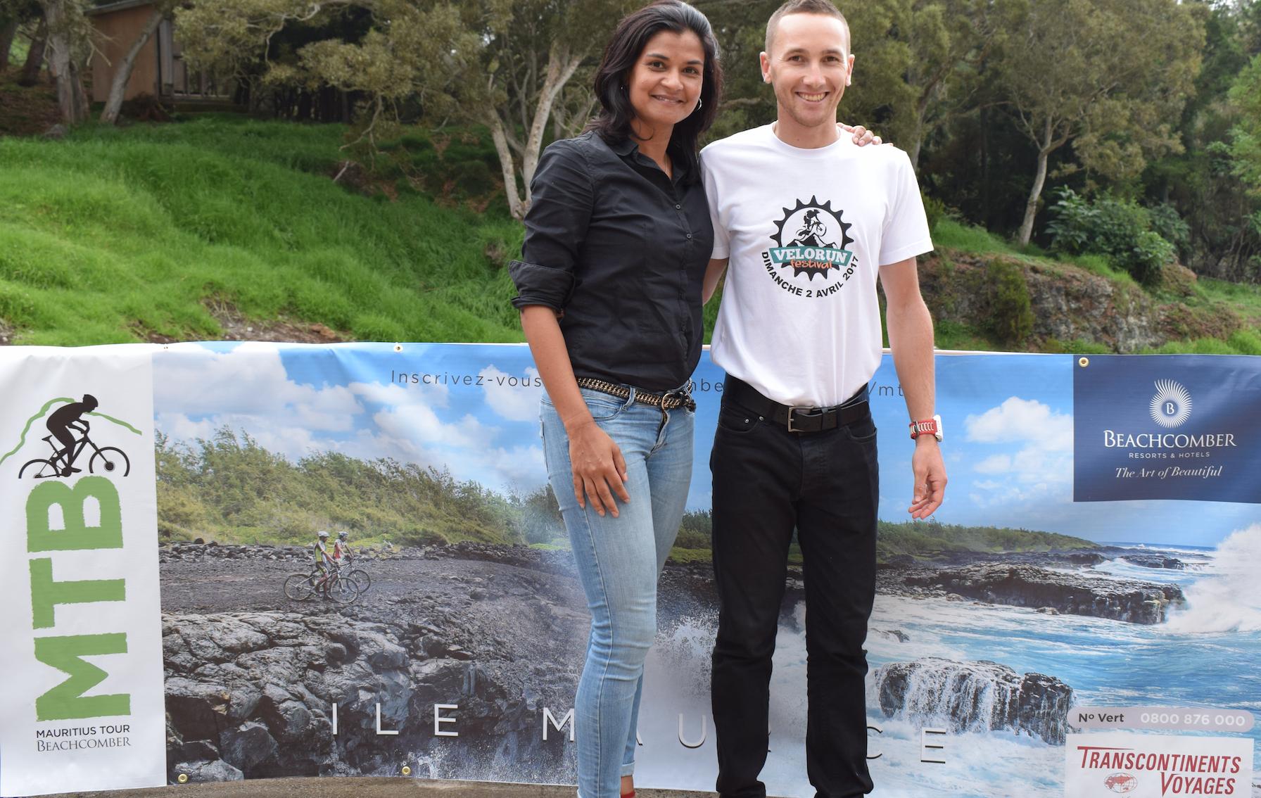 Avec Arianne Bellepeau, la représentante de Beachcomber Maurice
