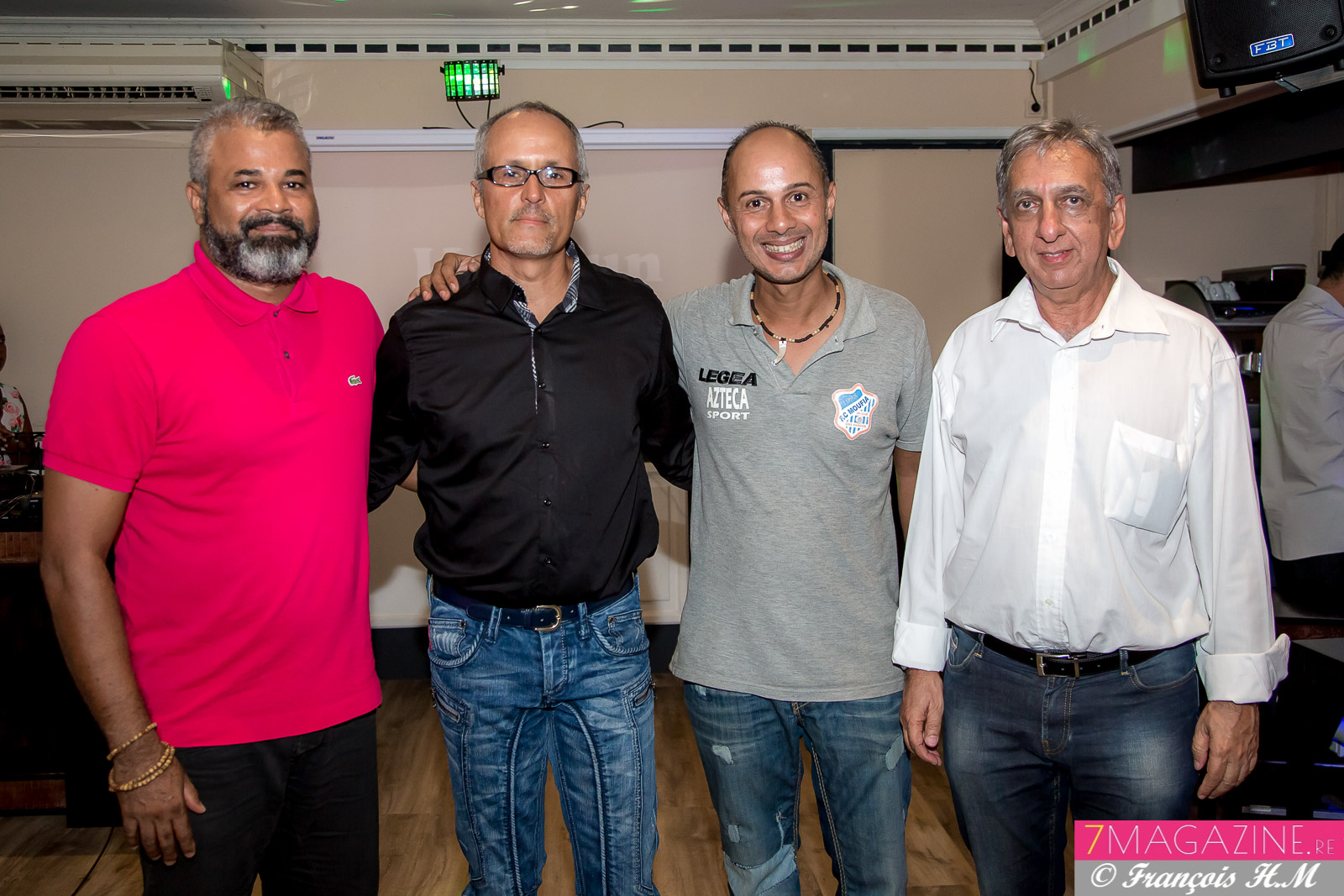 Freddy Latchoumaya, Patrick Grondin, Pascal Falcuci, et Aziz Patel