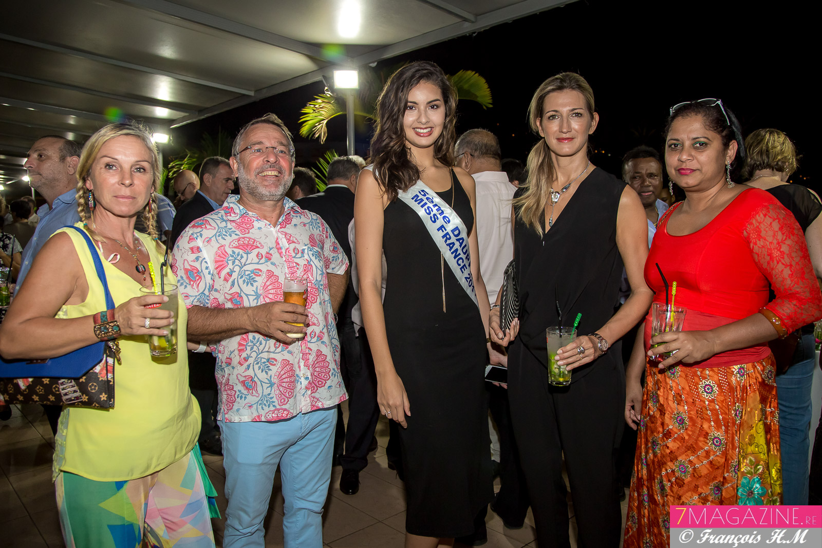 Christine et Philippe El-Bez, de retour à La Réunion, Ambre N'guyen, Virginie Turonnet et Jimmye Coupou