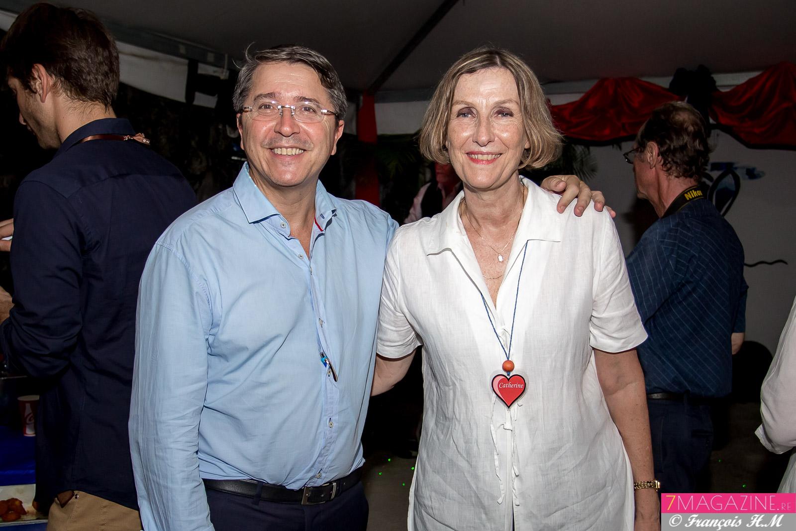Jean-Jacques Morel, vice-président du Conseil Départemental, et Catherine Gaud