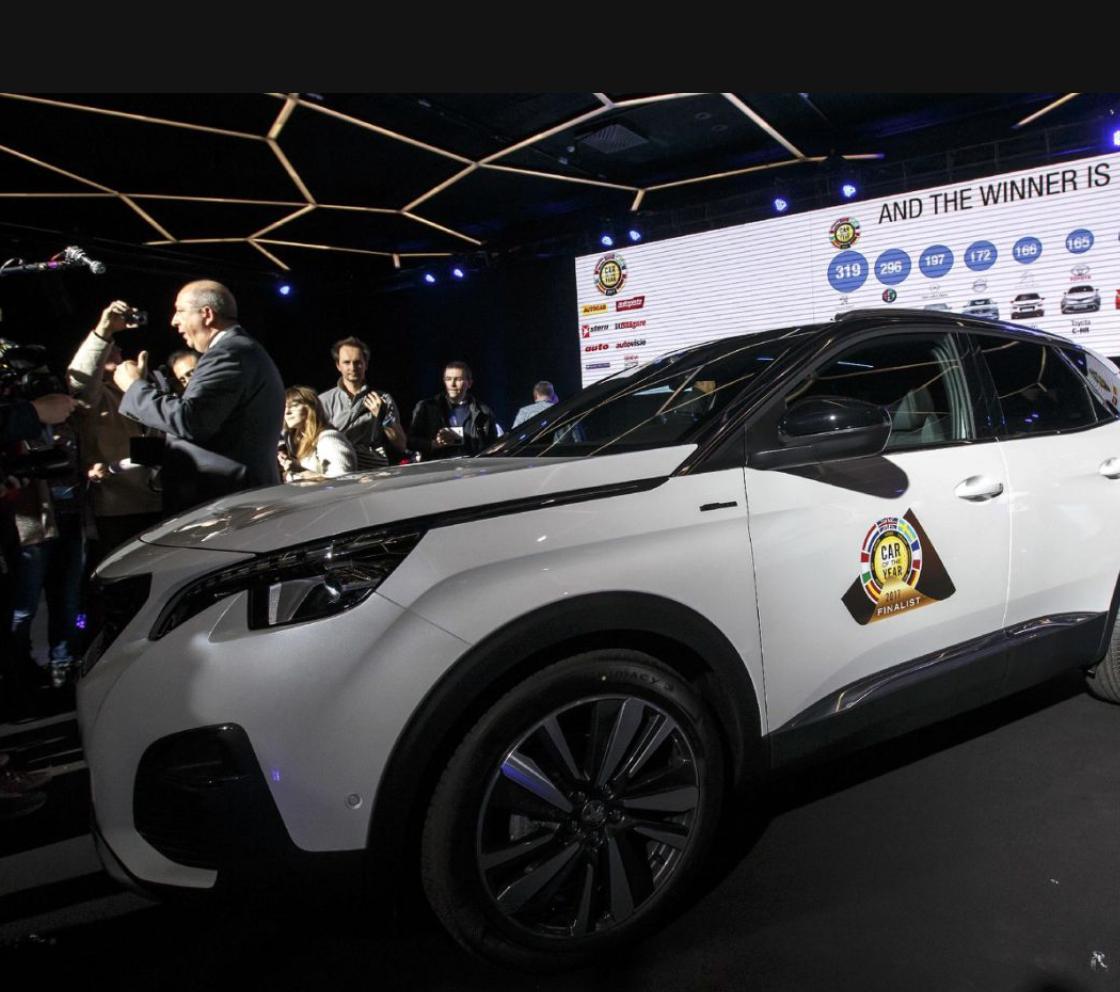 """La Peugeot 3008 élue de """"Voiture de l'année 2017"""""""