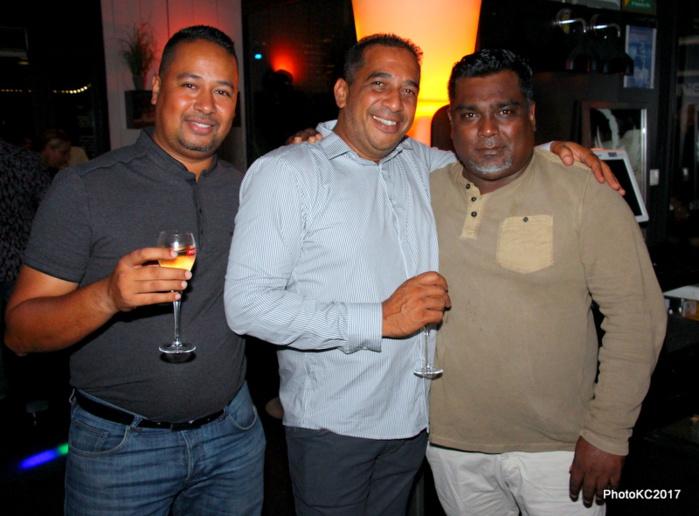 J Louis Moutoussamy d'ADM Transport, JF Bovalo et Krishna Andy restaurateur