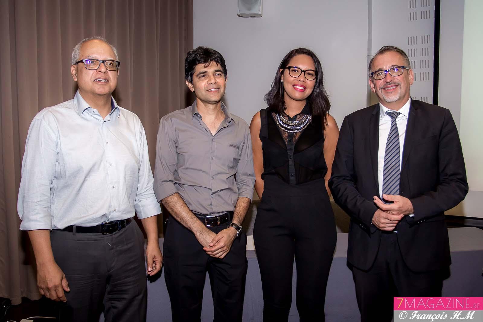 Didier Fauchard, Mohammed Patel, Anne Hoarau et Michel Swieton