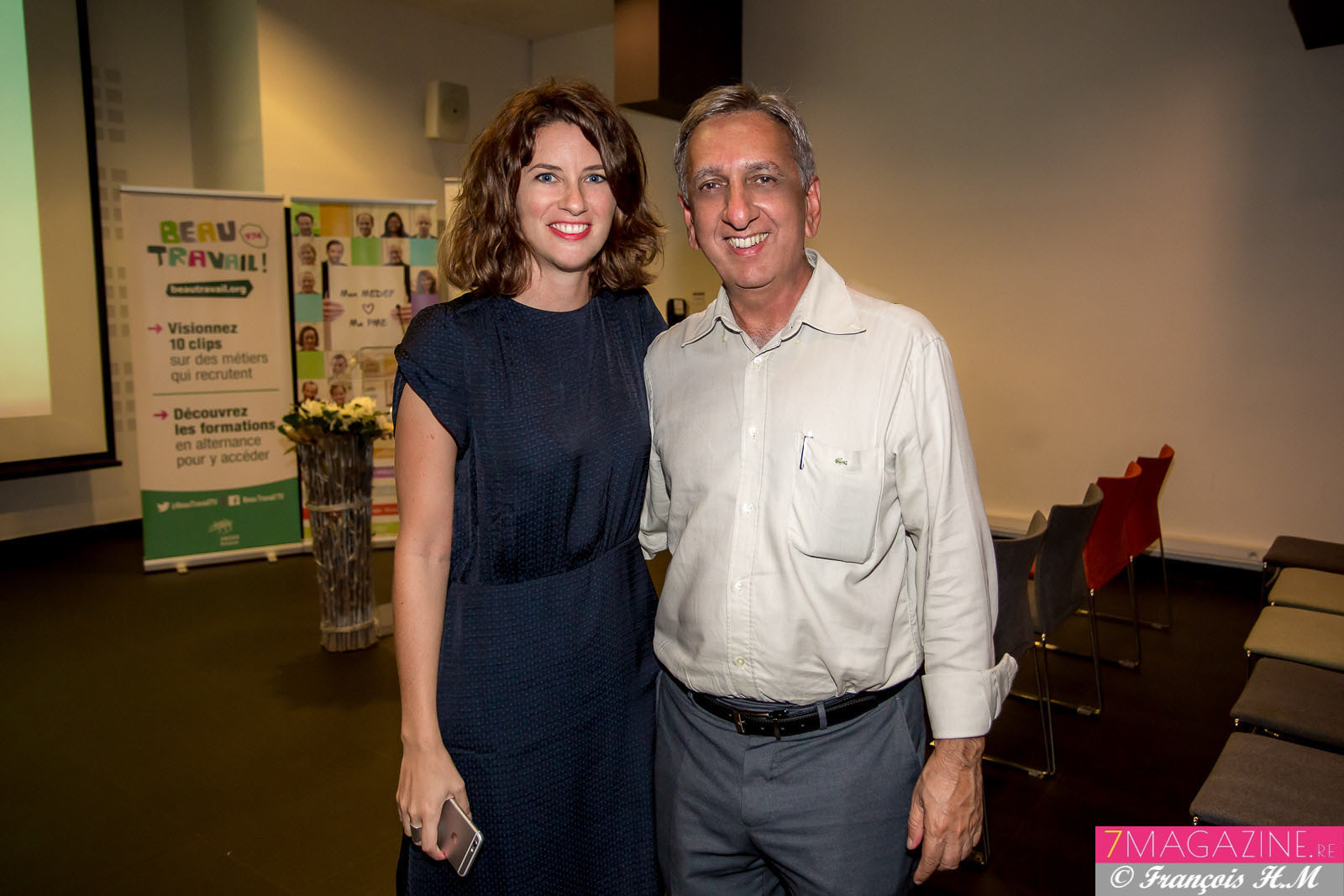 Pauline Boissimon et Aziz Patel