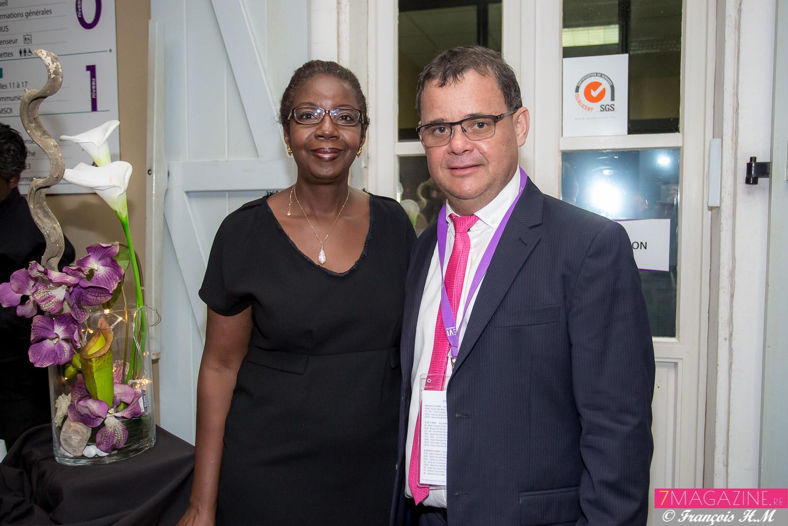 Marie-Luce Ajax, directrice du LUX Saint-Gilles, et Pascal Picard