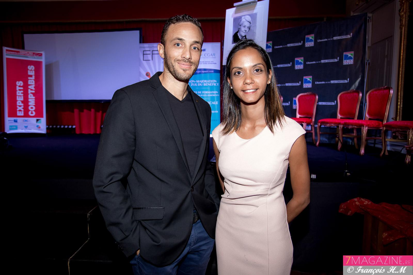 Nisma Utteemun, Prix Julie Mas 2017, et son associé Fabrice Alanoix