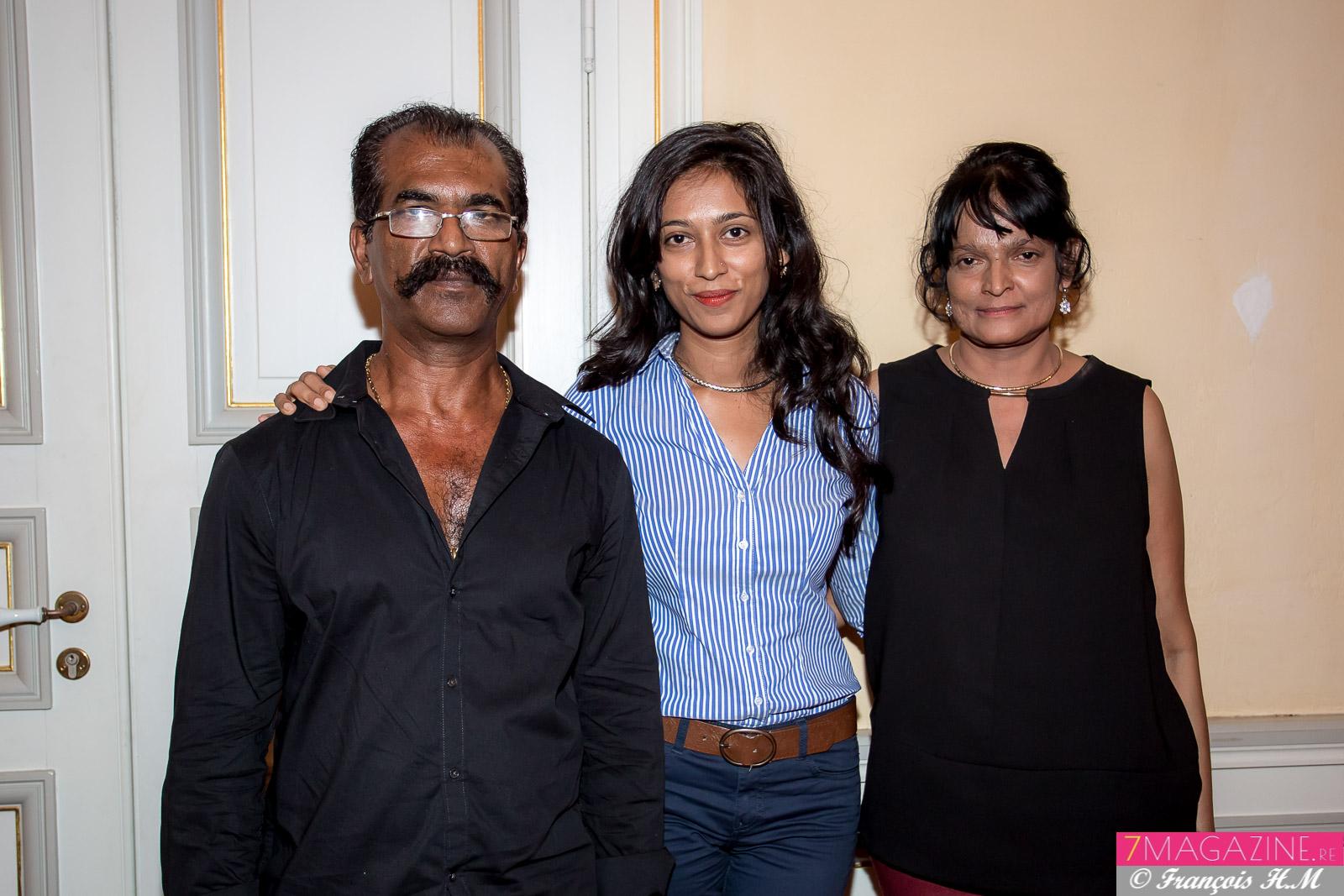 Ranjani Ponin, 2ème Prix et Prix Espoir, et ses parents