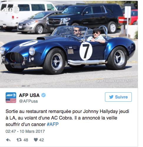 Johnny à bord d'une AC Cobra: des nouvelles rassurantes