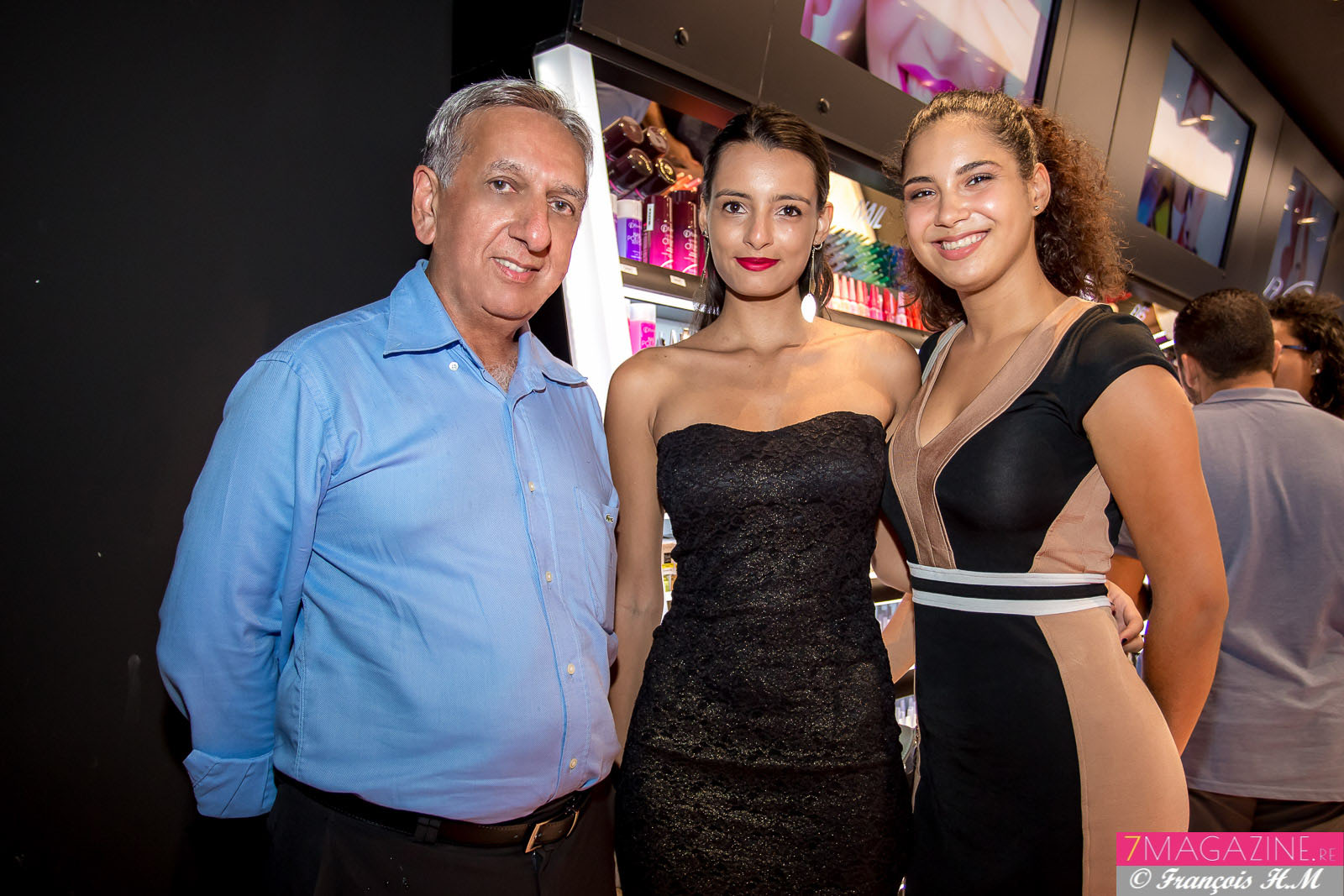 Aziz Patel, Anne Morel et Noémie Payet