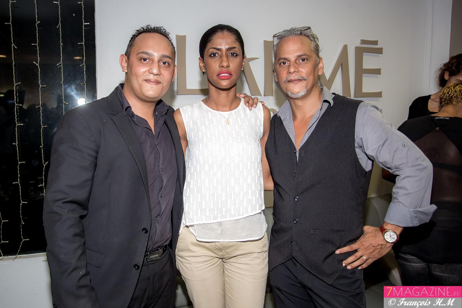 Shirley Edme avec Dimitri et Félix Manent