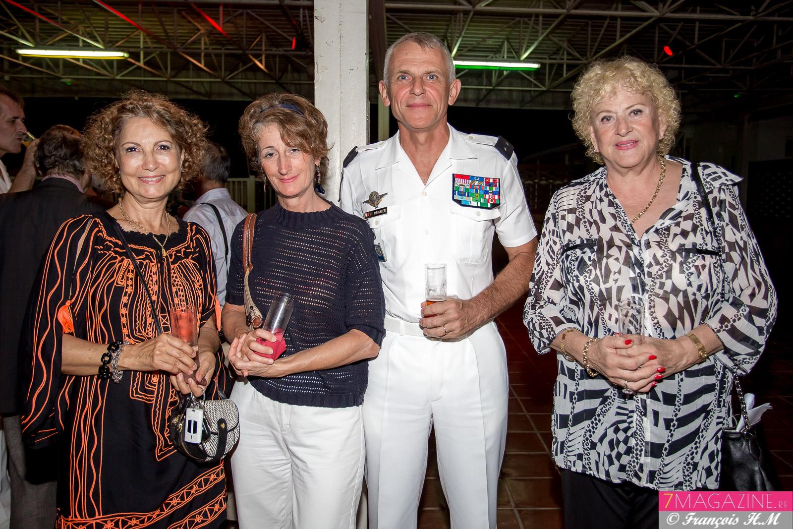 Marie-Denise Lallemand, consultante, Marianne et Franck Reignier, et Carmen Allié, trésorière-adjointe de l'AR 27