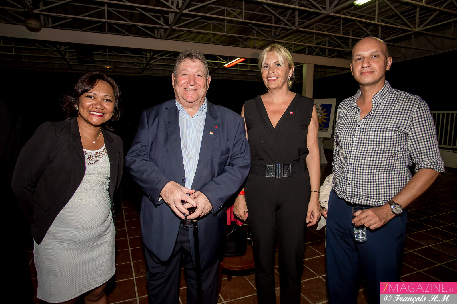 Mialy Andrianaivo, Jean-Claude Pech, consul honoraire des Seychelles, Eve Lyne Charlanes, et Hugues Maillot, cadre au Conseil Départemental