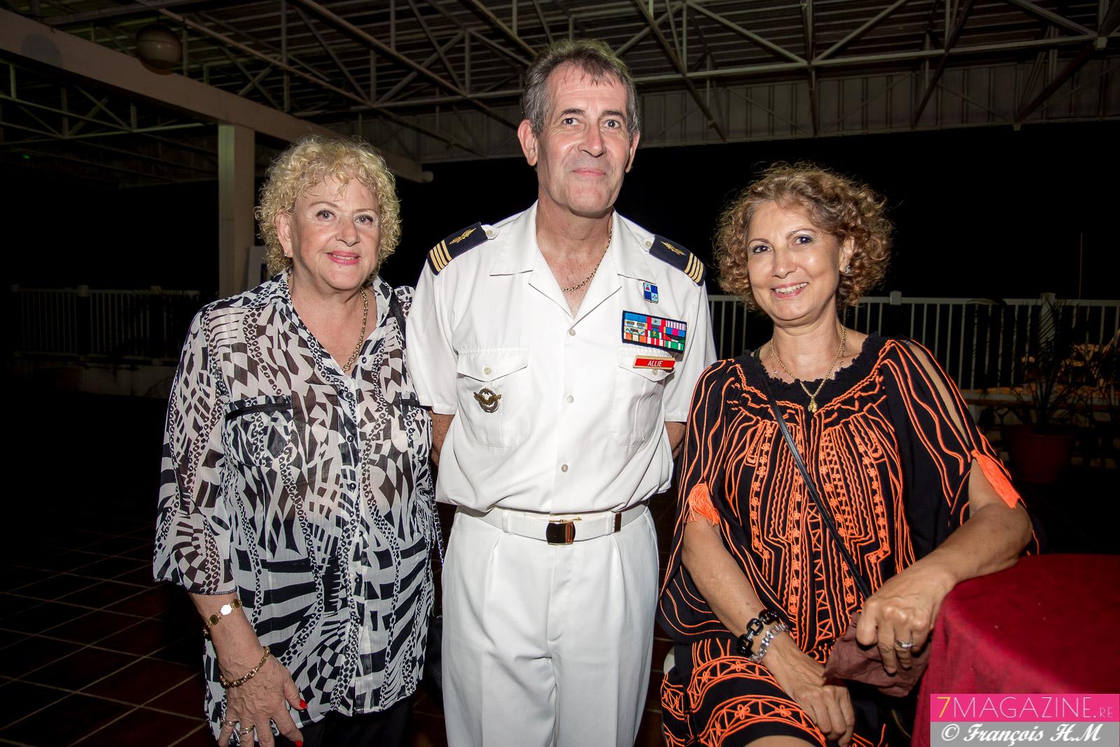 Carmen Allié et son époux Jimmy, officier réserve adjoint au DA 181, et Marie-Denise Lallemand